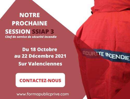 SSIAP 3 – Formation du 18 Octobre au 22 Décembre 2021 – VALENCIENNES