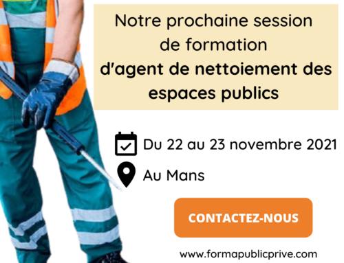 FORMATION AGENT DE NETTOIEMENT DES ESPACES PUBLICS – LE MANS